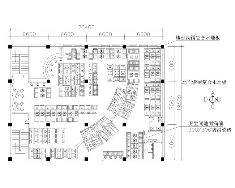 网吧室内装修设计方案图(CAD)
