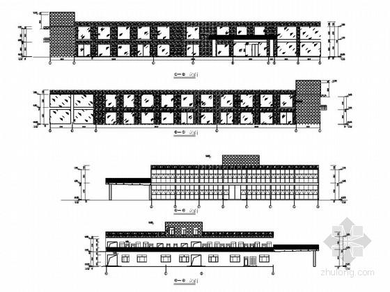 [陕西]门式刚架结构4S店结构施工图(含建筑图)
