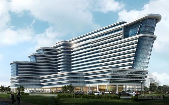 [江西]14层框架剪力墙结构五星级酒店结构图(含建筑图 效果图)
