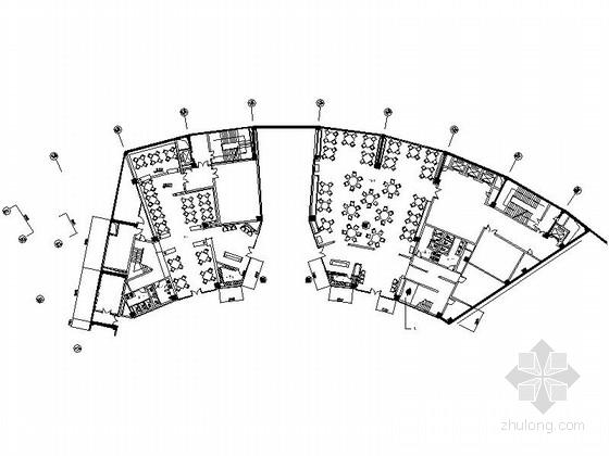 [郑州]中央商务区中外合资现代化会展中心装修施工图(含效果实景)