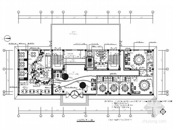 [河北]简约现代休闲会所装修施工图(含效果)