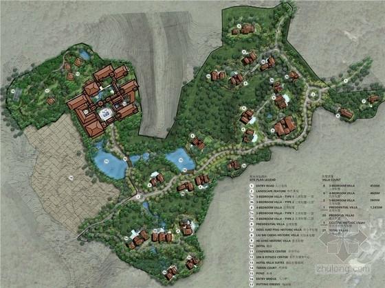 [重庆]山地豪华休闲别墅庭院景观设计方案