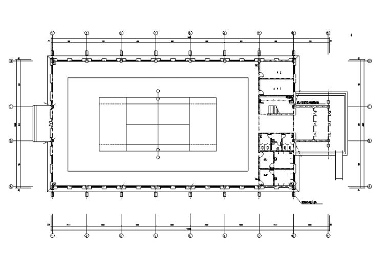 多层网球馆电气施工图
