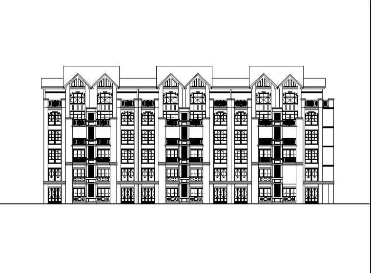 [上海]五层带阁楼花园式洋房建筑施工图