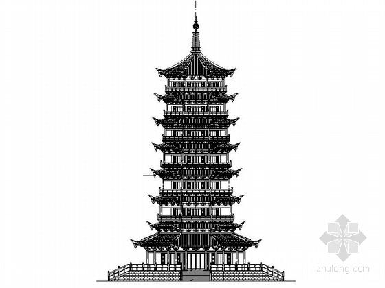 [广西]七层八角重檐仿古佛塔建筑施工图