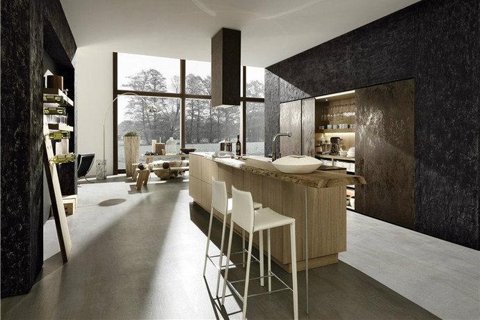 现代开放式厨房装修效果图
