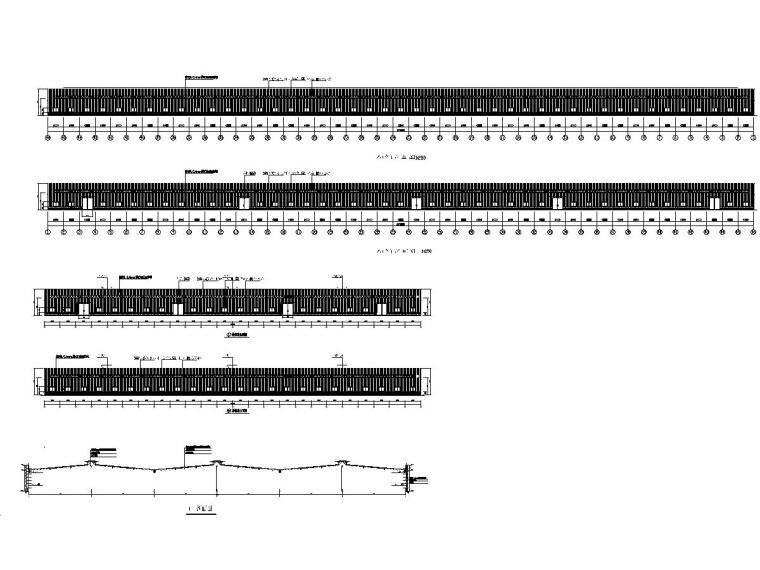 270米X114米X8米钢结构成品库全套图