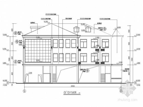 三层框架结构学校综合楼建筑结构施工图