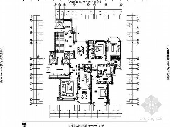 [太原]知名地产商设计家装样板间施工图