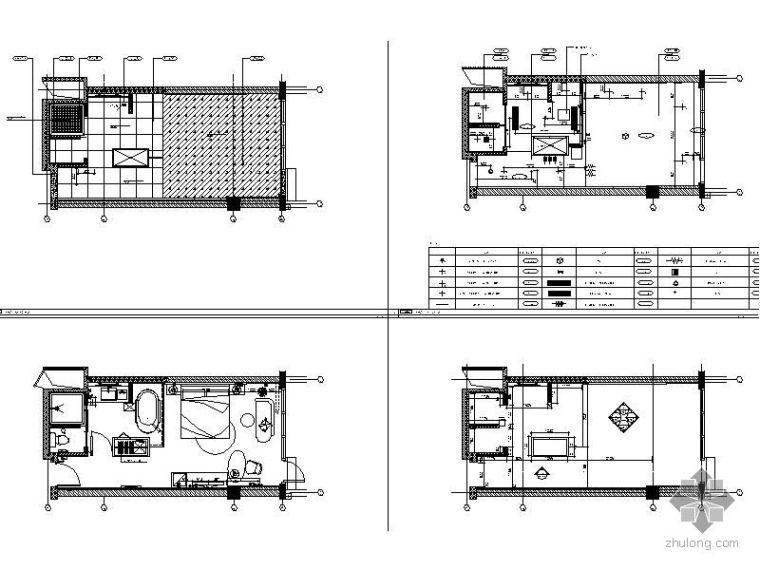 某酒店K-8型标准房立面图_1