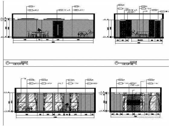[河南]家电制造业连锁集团行政办公楼3层宴会厅及包间设计装修图(含方案手册照片)豪华包间立面图