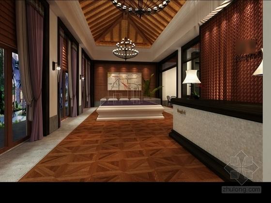 [武汉]中式风格两层售楼处室内装修图(含效果) 大厅效果