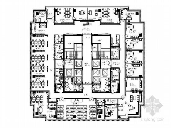 [重庆]原创市级农业龙头企业高档现代办公室CAD装修施工图(含效果)