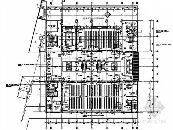 [云南]清新淡雅度假酒店会议室施工图(含效果图)