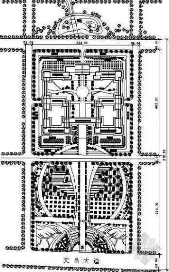 某地区政府综合楼环境规划平面图
