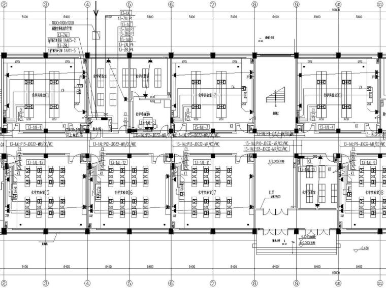 [山西]重点中学新校区建筑群全套强弱电图纸(13栋楼、311张)_1