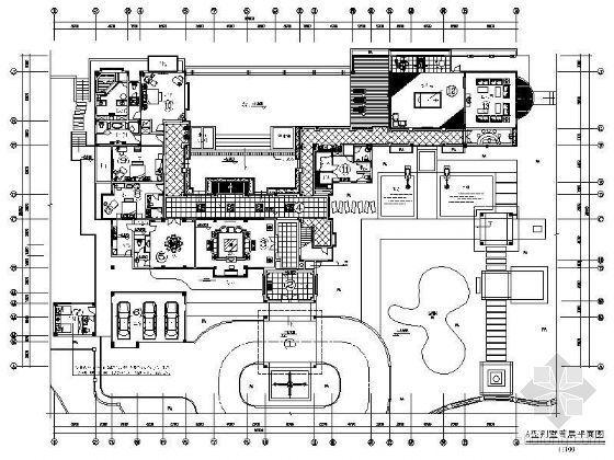 国际富豪别墅区装修平面图