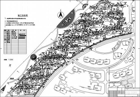 某小区别墅下室外排水管线体图