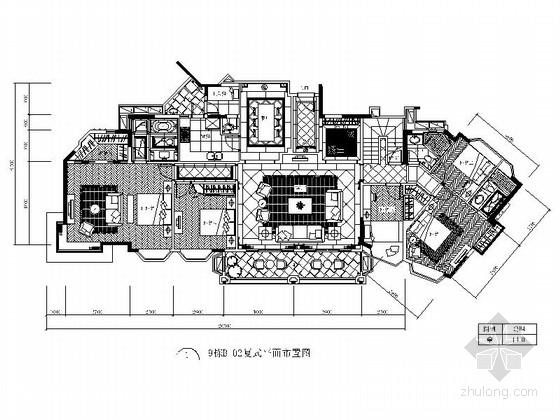 [湖北]名师花园复式全套室内设计CAD施工图