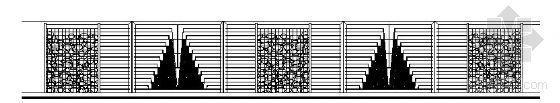 卵石铁艺围墙详图