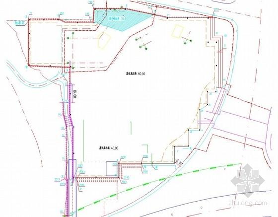 [湖南]桩锚及双排桩锚索结合土钉墙基坑边坡支护施工图
