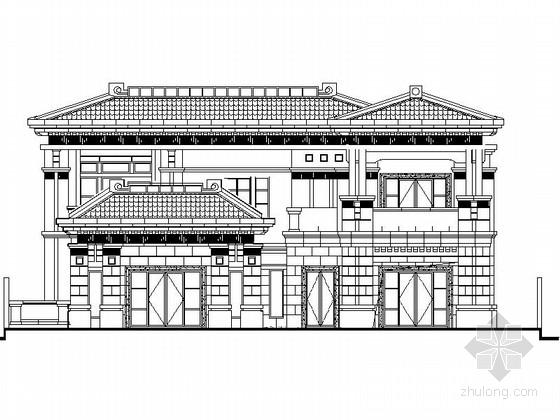 [江苏]某二层一进院中式风格别墅建筑施工图