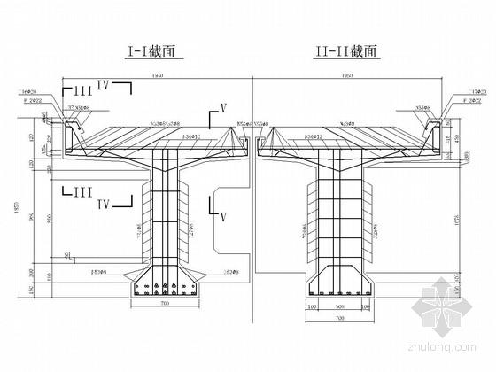 120m道砟桥面钢筋混凝土T梁设计图(23页 附设计算例)
