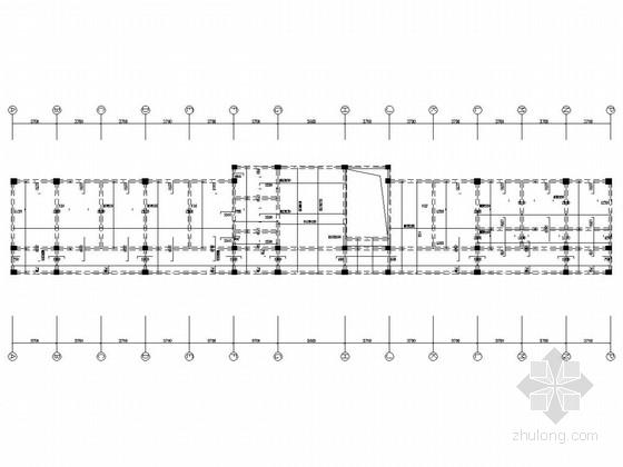山东某高新技术创业园框架结构办公区+门式钢架结构生产区结构施工图(含建施)