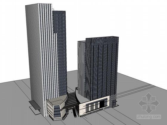 高层办公楼SketchUp模型下载