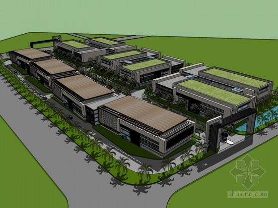 汽车产业园SketchUp模型下载-汽车产业园