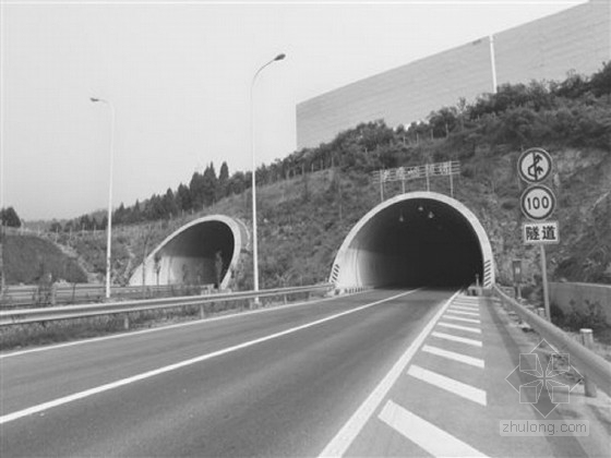 知名大院双洞四车道分离式隧道工程施工图设计195张(含电照消防)