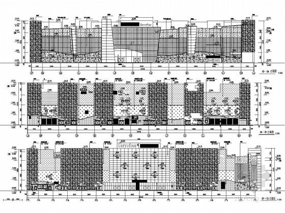 [北京]三层框架结构著名购物中心结构施工图(含详细建筑图)