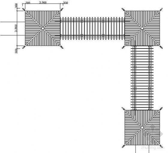 组合亭架建筑详图-2