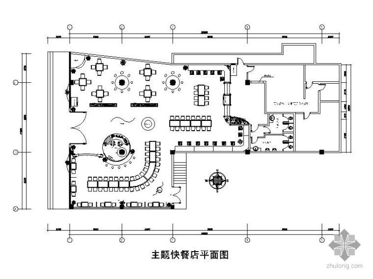 某主题特色餐厅施工图(含手绘)