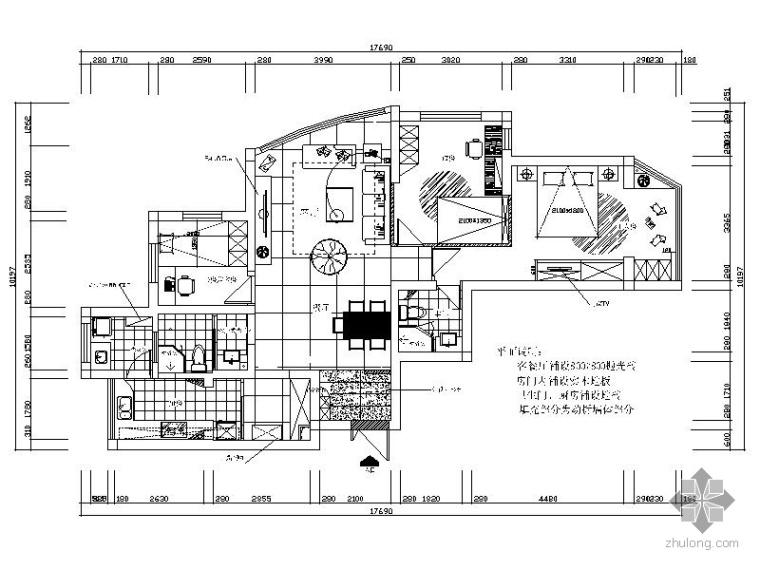 [宁波]现代简约三居室装修施工图