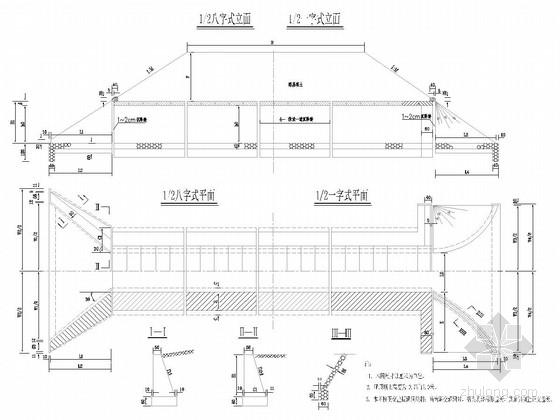 [广西]净跨1.0~4.0米盖板涵通用图51张(填土厚度0.75~25米)