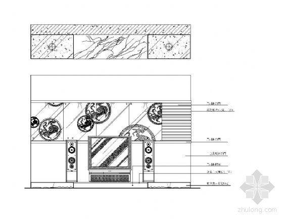 电视机背景墙立面设计图