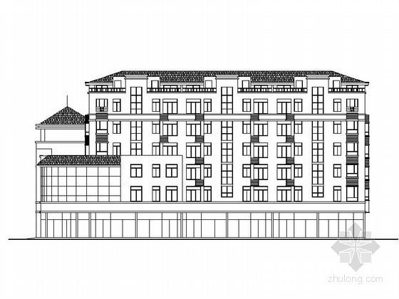 [潍坊]某住宅小区六层商住楼建筑施工图
