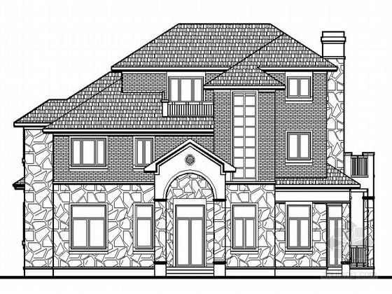 某独栋美式三层别墅建筑施工图(F型)