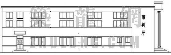某法院审判厅建筑施工图