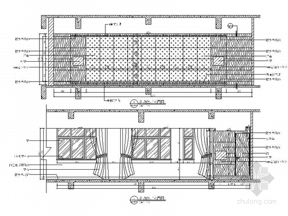 [北京]现代化产业园区高档研发大楼装修施工图多功能厅立面图