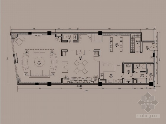 [北京]国际标准精英社区新中式双层别墅软装设计方案图