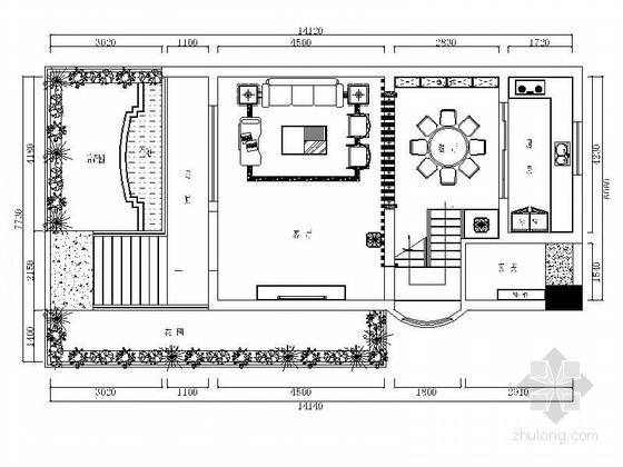 某三层现代别墅室内装修施工图