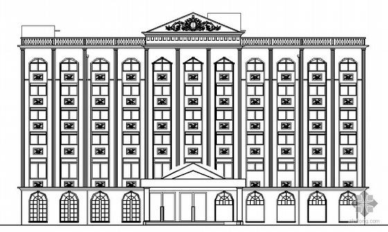 [河南宝丰]某六层欧式风格洗浴中心建筑施工图(带效果图)