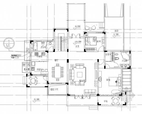 别墅建筑燃气系统设计施工图