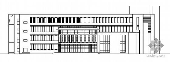 无锡惠山某学校规划区图书馆建筑结构方案图