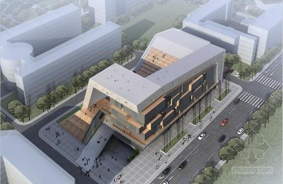 [甘肃]高层直线条与转折面造型大学生活动中心建筑设计方案文本