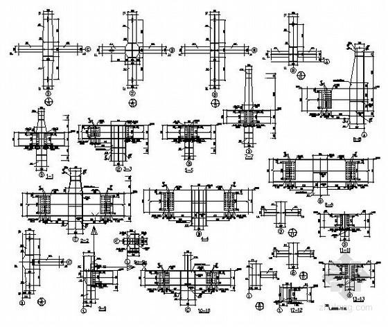 某钢框架梁柱连接节点构造详图