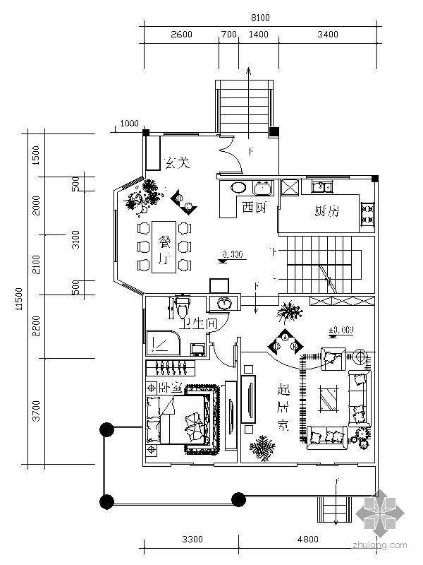 [学生作业]别墅室内装饰设计