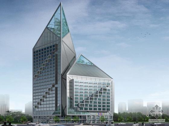 某外企服务中心大厦建筑方案设计(含PPT及CAD方案及效果图)
